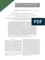 survival guide to preprocessing landsat data