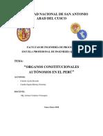 Organos Constitucionales Autonomos en El Perú