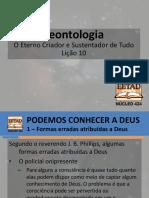 Teontologia - Lição 10