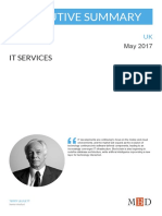 IT Services - UK - May 2017 - Executive Summary