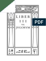 Liber III vel Jugorum by Aleister Crowley