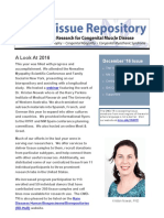 Congenital Muscle Disease Tissue Repository Newsletter 2016