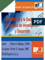 EL PMBOK y la Gestión de Proyectos de Investigación y Desarrollo
