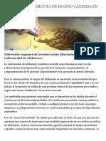 CONFIRMAN PRESENCIA DE HONGO CÁNDIDA EN EL ALZHEIMER. | Qisoma
