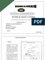 informe sobre tanque  y cisterna