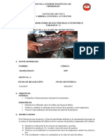Informe de Panel de Instrumentos
