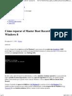 Cómo Reparar El Master Boot Record (MBR) de Windows 8 - Opciones de Invisibilidad