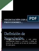 Negociación con los proveedores