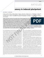 Epigenetic memory in induced pluripotent stem cells