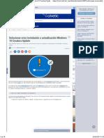 Solucionar Error Instalación o Actualización Windows 10 Creators Update - Solvetic