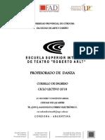 Profesorado Danza 2018 r