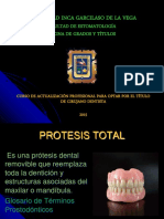 Prótesis Total Curso de Actualizacion