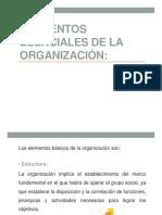 1.1 Elementos Esenciales de La Organización