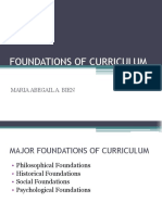 Foundations of Curriculum