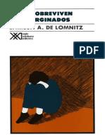Adler de Lomnitz Larissa - Como Sobreviven Los Marginados