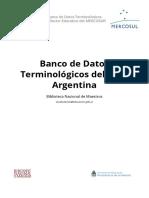 Banco de Datos Terminologicos Del Sem Argentina Alf
