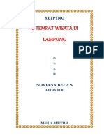 Kliping Objek Wisata di Lampung