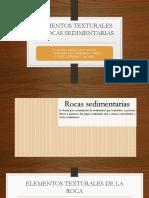 Elementos Texturales de Rocas Sedimentarias