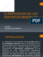 TEMA 3 Clasificacion de Despositos Minerales