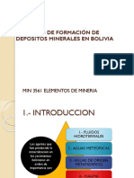Tema 6 Procesos de Formacion de Depositos Minerales