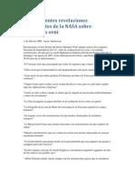 Sorprendentes revelaciones procedentes de la NASA sobre ocultación ovni