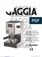 Gaggia Classic Instruction Manual