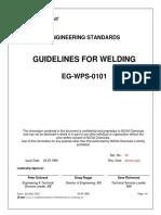 Guidelines for Welding EG-WPS-0101