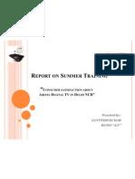 Report on Summer Training