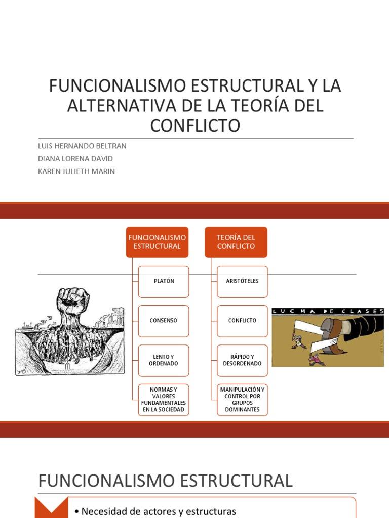 Funcionalismo Estructural Y La Alternativa De La Teoria Pptx