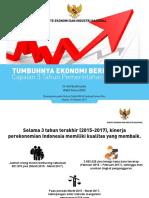 3 TAHUN JOKOWI JK; Tumbuhnya Ekonomi Berkeadilan - Arif Budimanta (Bahan Diskusi KMI 191017)