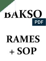 BAKSO
