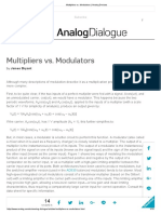 Note - Multipliers vs. Modulators