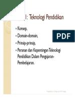 Topik 1- Konsep Teknologi Dalam P&P