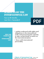 Subjects of the International Law