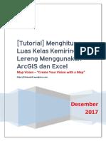 [Tutorial] Menghitung Luas Kelas Kemiringan Lereng Menggunakan ArcGIS Dan Excel