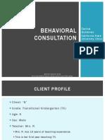 cg behavioral consultation