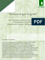 Biotecnología Vegetal Presentación