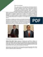 Biografia Del Presidente de La Republica de Guatemala