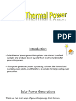Solar Thermal Power