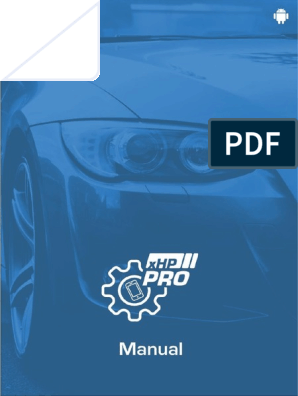 Xhp Pro Manual | Android (Operating System) | Manual