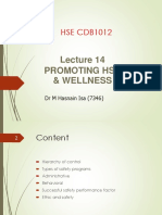 Lecture 14 Promoting HSE Wellness