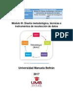 Mdulo III Diseo Metodolgico Tcnicas e Instrumentos de Recoleccin de Datos