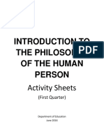 Intro to Pohilo of the Human Person Topic Guide