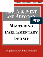 John Meany, Kate Shuster Art, Argument, And Advocacy Mastering Parliamentary Debate