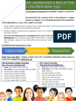 Florida CALL to ACTION Proposal 40 for Constitutional Amendment for Legal Represenation for Children in Foster Care Flyer