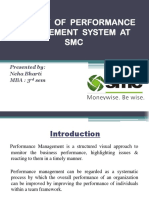 A Study of Performance Management System at Smc