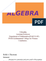 Algebra Theorem
