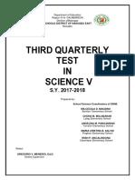 SDNE Science Periodic Test Q3