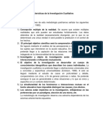 Características de La Investigación Cualitativa