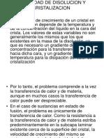 Velocidad de Disolucion y Cristalizacion[1]